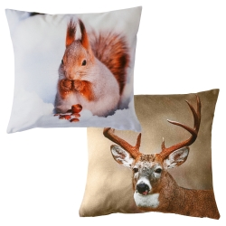 Housse de coussin photo impression - lot de 2