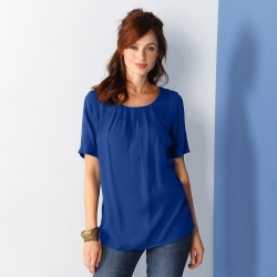 Blouse col rond manches courtes