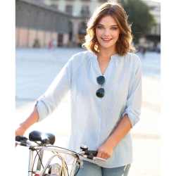 Blouse manches longues rayée