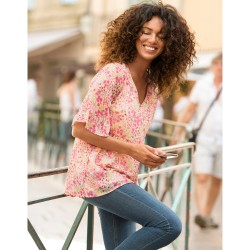 Chemise jean brut boutons pression