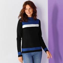 Pull maille chaussette graphique