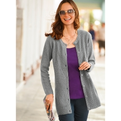 Gilet long maille anglaise