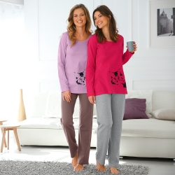 Pyjama imprimé chat - lot de 2