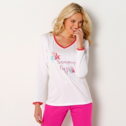 Tee shirt pyjama manches longues - Mix and Match*