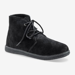 Bottines lacées cuir