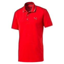 Polo manches courtes rouge