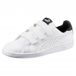 Baskets Smash velcro Puma® blanc