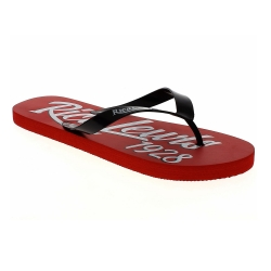 Tongs RL Derick noir rouge
