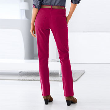 Pantalon Gainant Coloris Framboise
