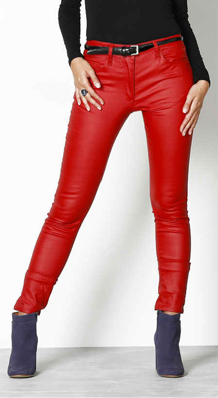 Pantalon Coloris Rouge