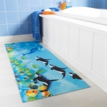 Tapis ultra absorbant motif fonds marins