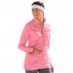 Sweat shirt zippé rose