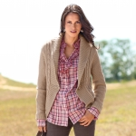 Gilet long maille fantaisie
