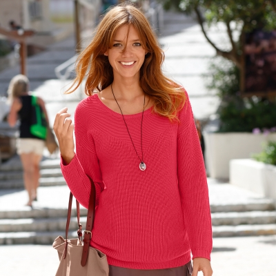 Pull maille anglaise plastron fantaisie
