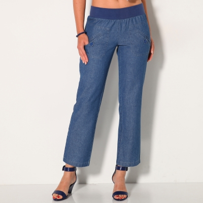 Pantalon denim 7/8ème