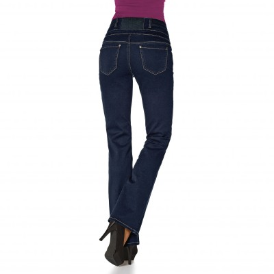 Jean taille haute coupe bootcut blancheporte - Jean coupe droite taille haute femme ...