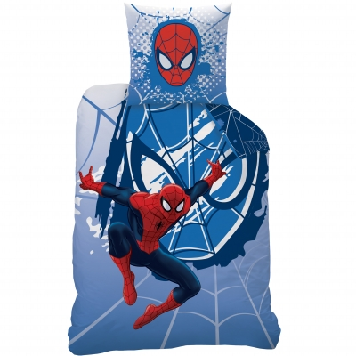 parure de lit spiderman webhead coton blancheporte. Black Bedroom Furniture Sets. Home Design Ideas