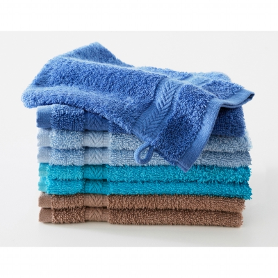 Gant de toilette camaïeu multicolore - lot de 8