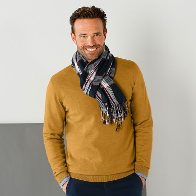 Pull col rond 80% laine