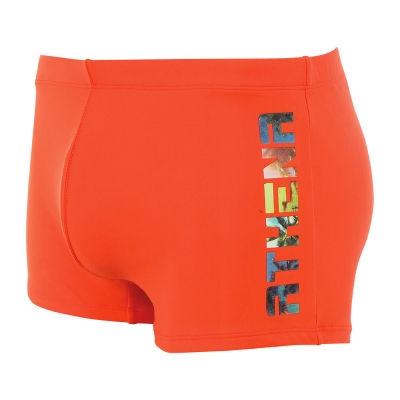 Boxer Bain orange sérigraphié