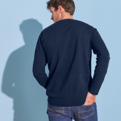 Pull col rond 80% laine  : Vue 3
