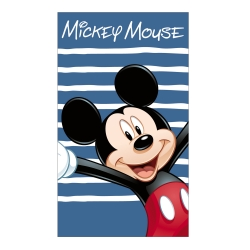 "Drap de bain ""Mickey Happy"" en velours"