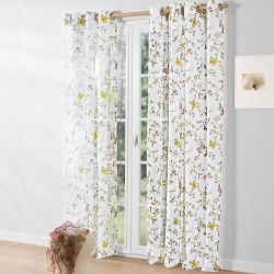 Voilage motif papillons polyester