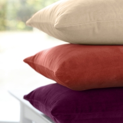 Housse coussin velours