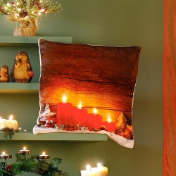 Housse coussin lumineuse