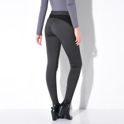 Legging bicolore maille milano effet push-up
