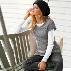Pull manches courtes 30% laine
