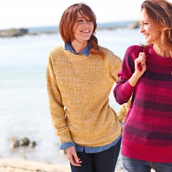 Pull ras de cou maille anglaise