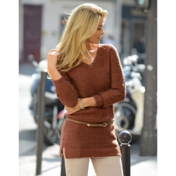 Pull tunique paillettes