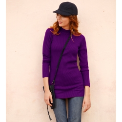 Pull col montant long. 74 cm