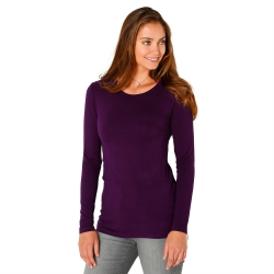 Tee-shirt col rond viscose stretch