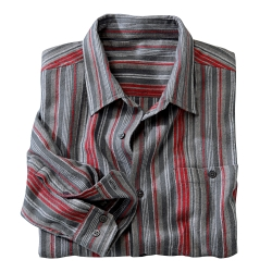 Chemise flanelle rayures fil teint