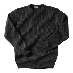 Pull col rond côte anglaise laine