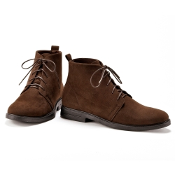 Bottines lacets marron