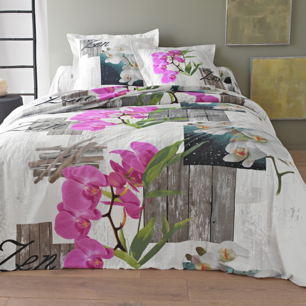 linge de lit orchid e de colombine coton blancheporte. Black Bedroom Furniture Sets. Home Design Ideas