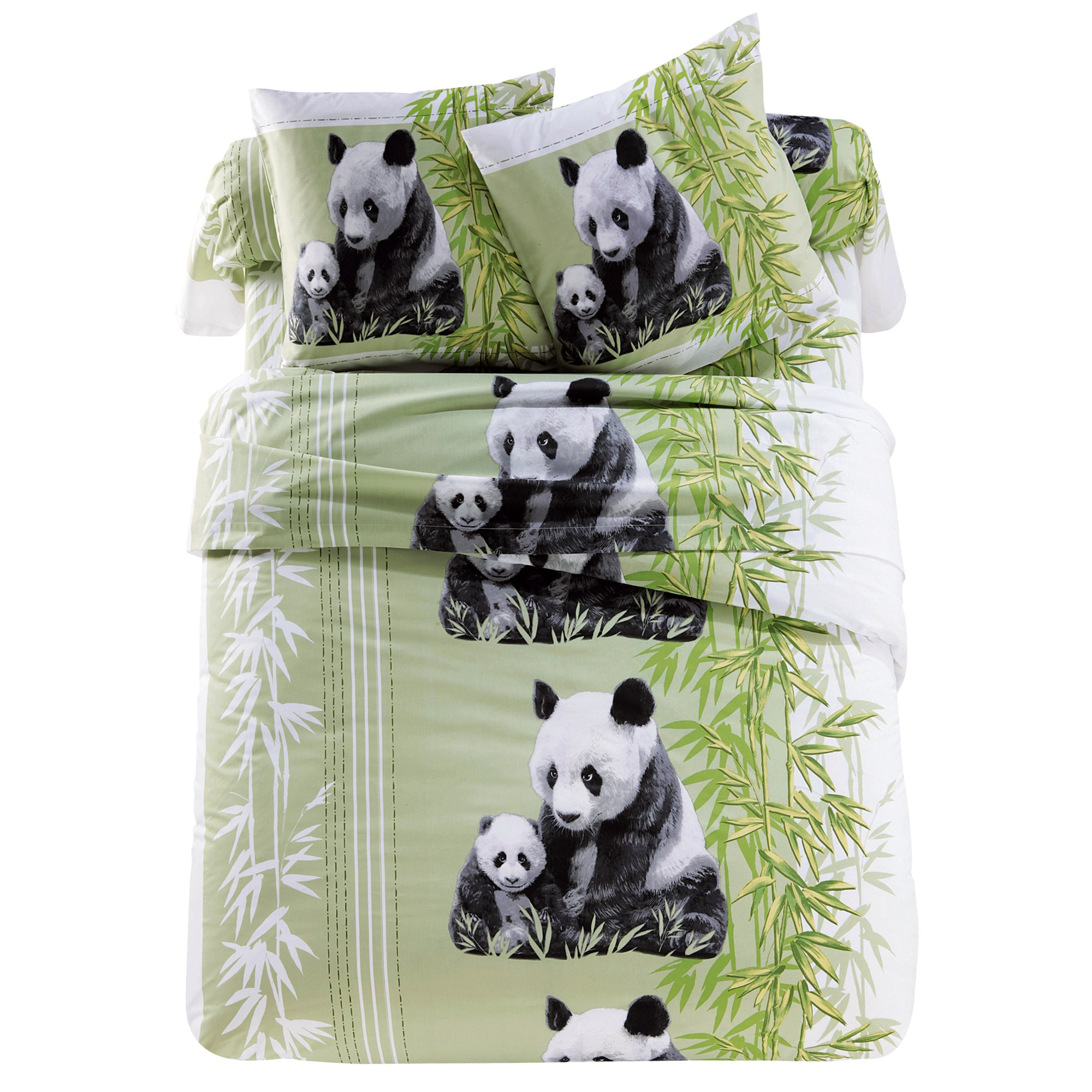 linge de lit pandas polyester coton blancheporte. Black Bedroom Furniture Sets. Home Design Ideas
