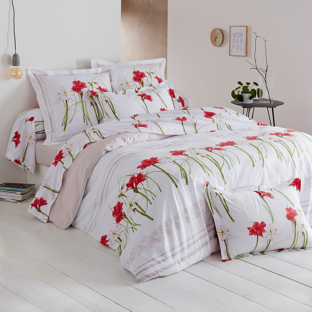 linge de lit amaryllis coton blancheporte. Black Bedroom Furniture Sets. Home Design Ideas