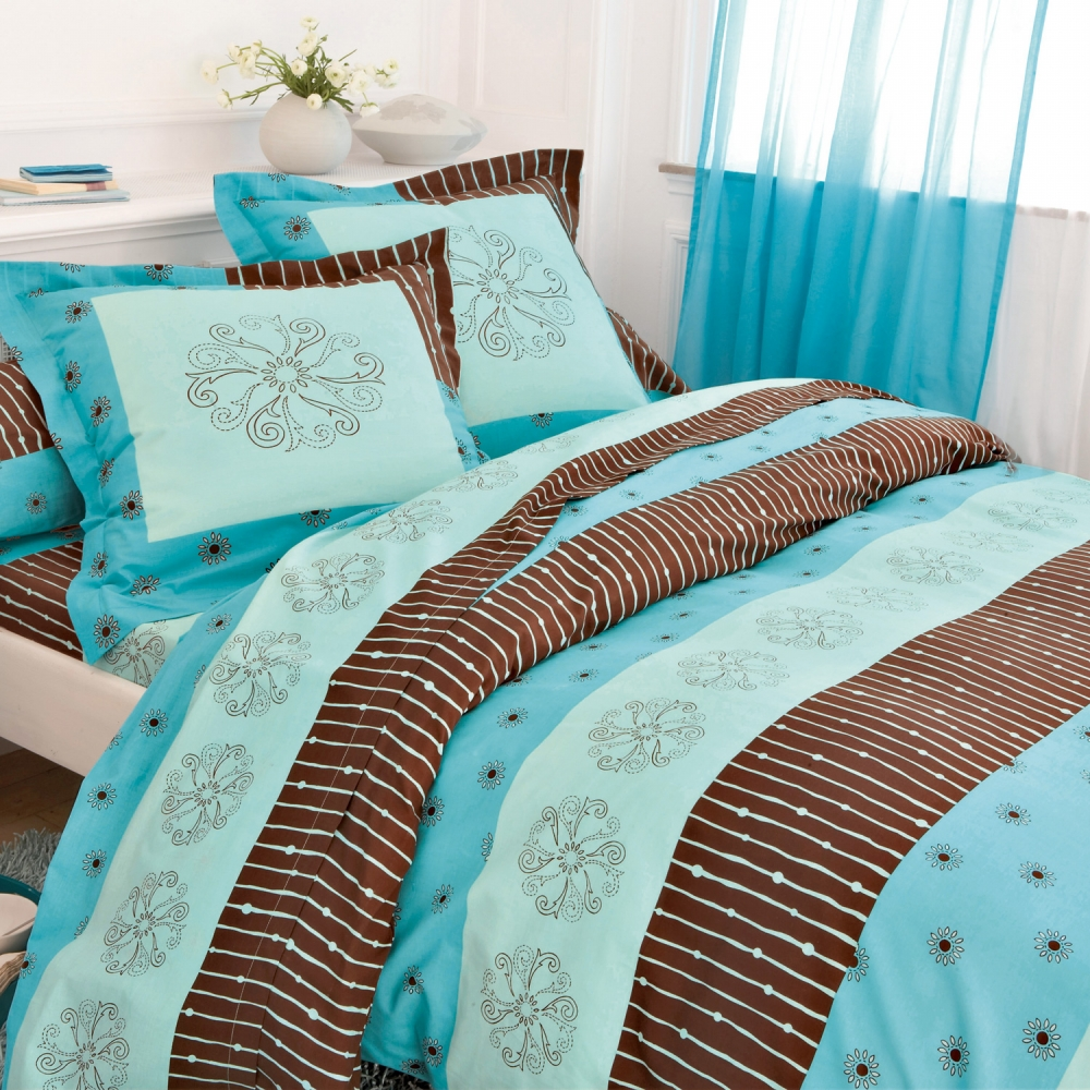 housse couette turquoise. Black Bedroom Furniture Sets. Home Design Ideas