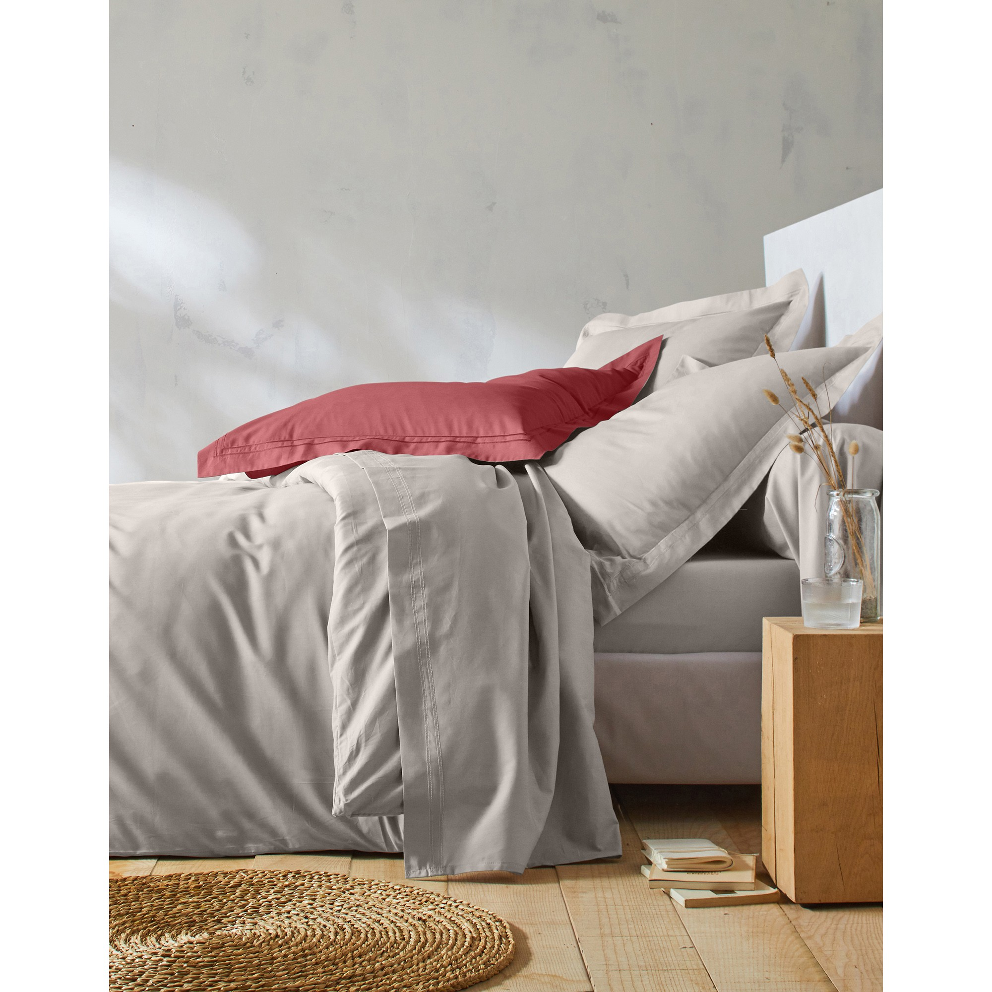 linge de lit uni percale blancheporte. Black Bedroom Furniture Sets. Home Design Ideas