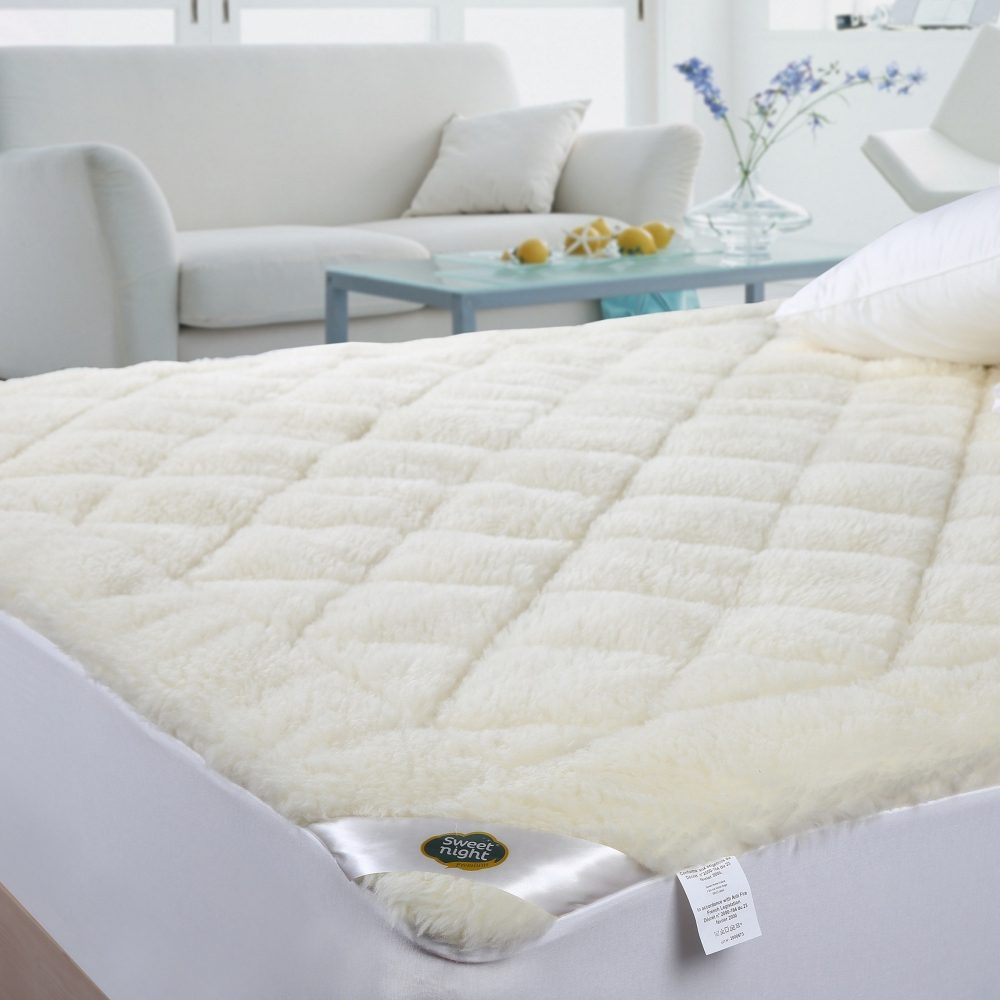 surmatelas r versible laine naturelle blancheporte. Black Bedroom Furniture Sets. Home Design Ideas