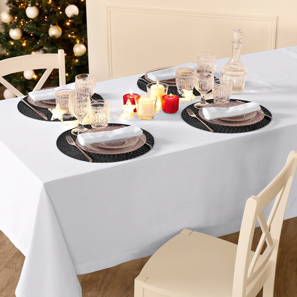 set de table rond festif lot de 4 blancheporte. Black Bedroom Furniture Sets. Home Design Ideas