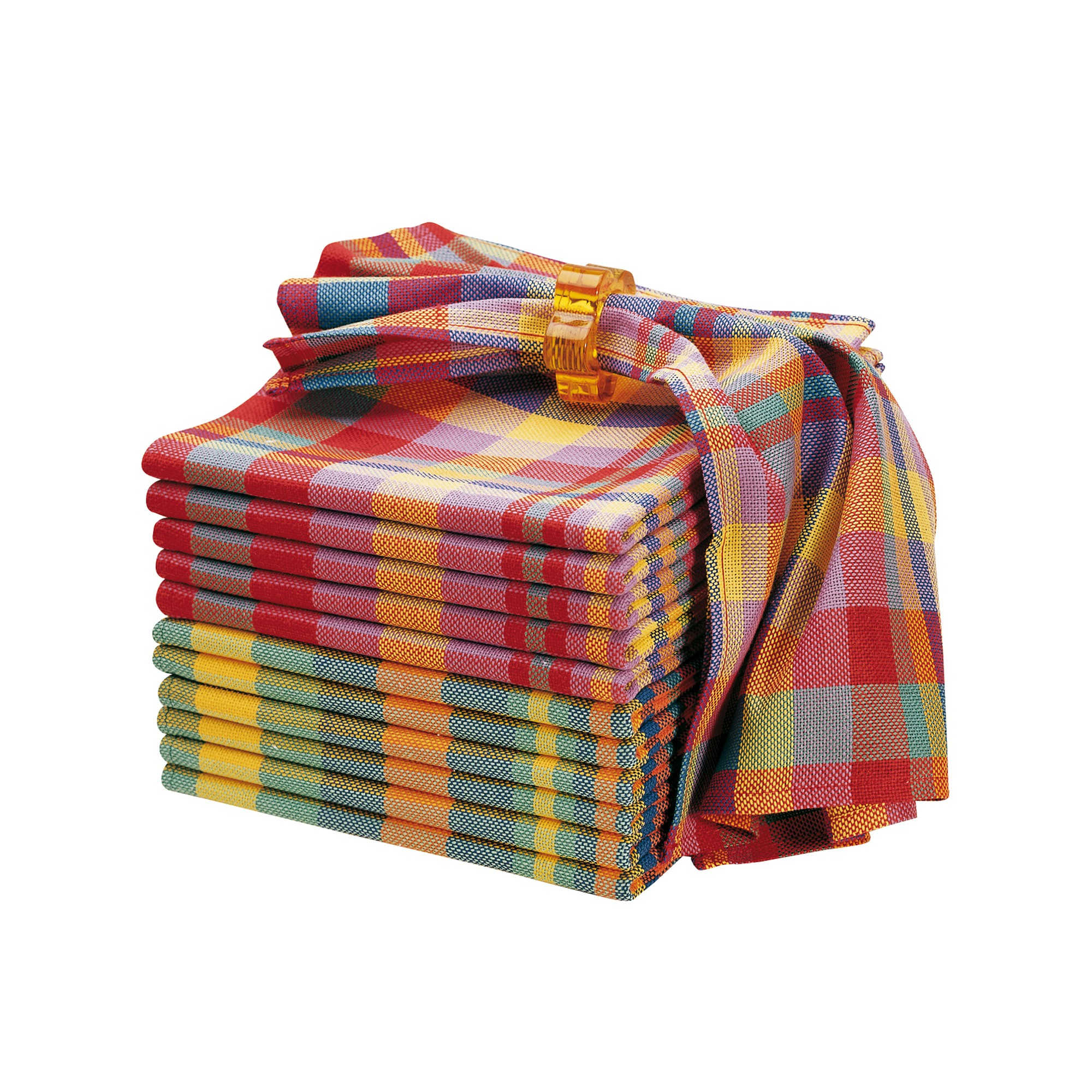 Serviette de table madras lots blancheporte - Serviette de table blanche pas cher ...