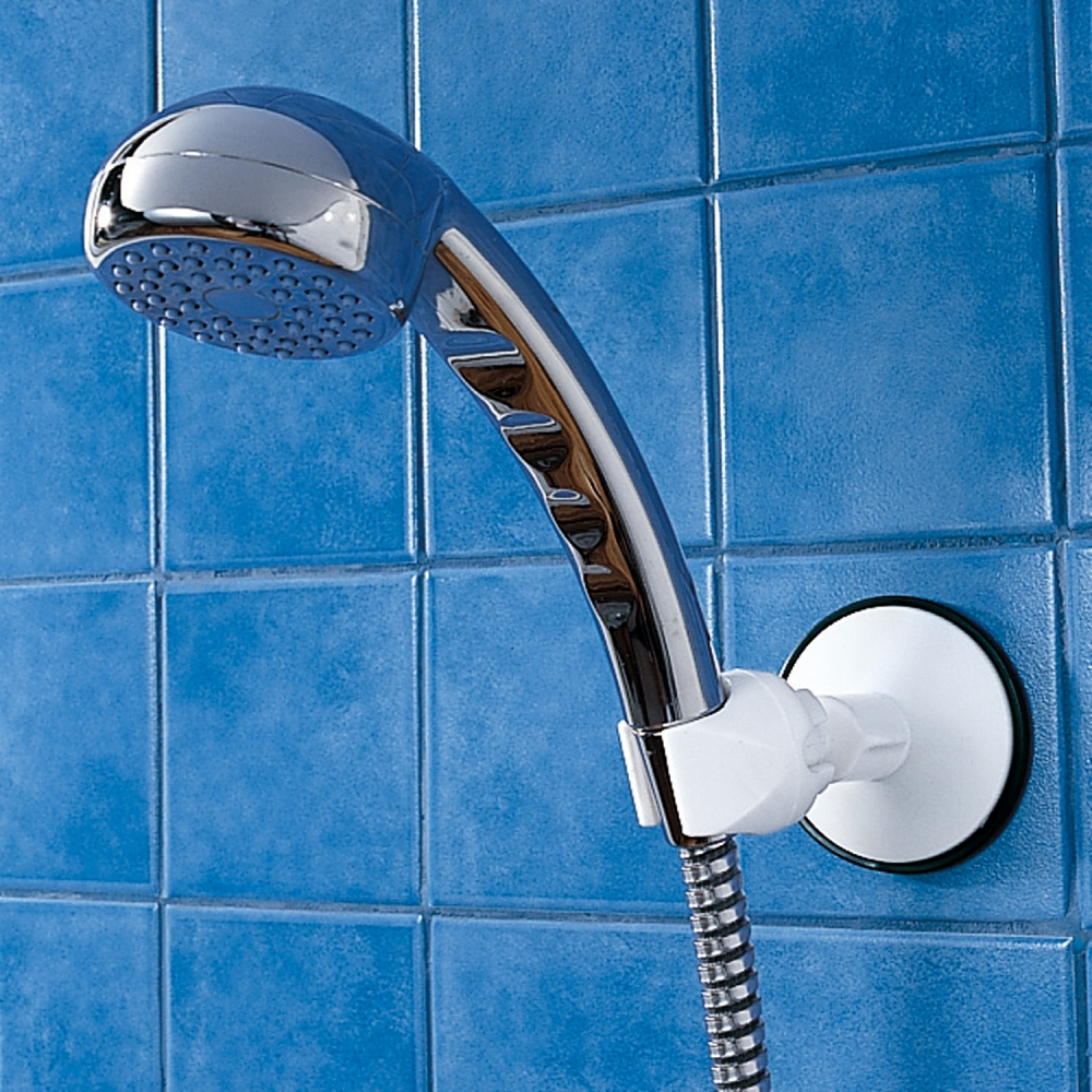 Support douche ventouse blancheporte for Fixation ventouse salle de bain