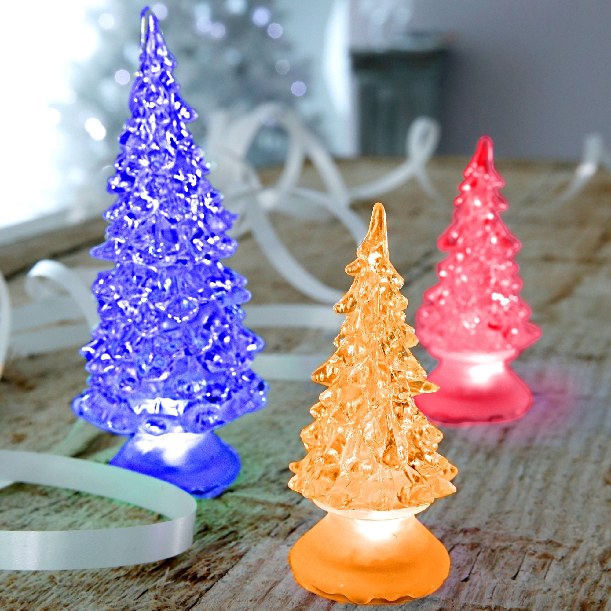 Sapin lumineux lot de 3 blancheporte - Sapin lumineux led ...