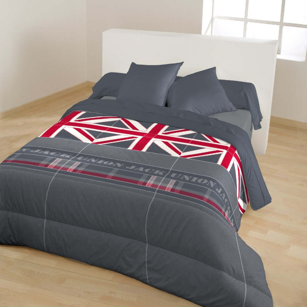 couette imprim e drapeau union jack 400 g m2. Black Bedroom Furniture Sets. Home Design Ideas
