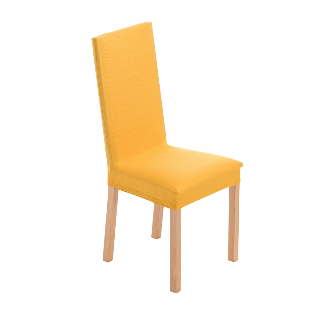 Housse de chaise extensible blancheporte for Housse assise de chaise